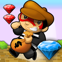 Diamond Runner ~ the best free jump and run bandit platform game with endless multiplayer levels