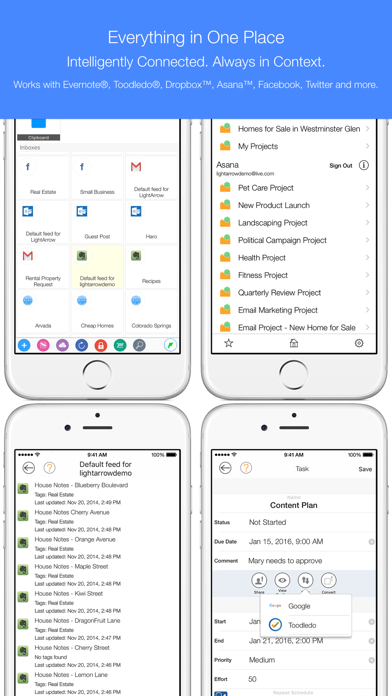 LifeTopix Calendar, Task Lists Screenshots