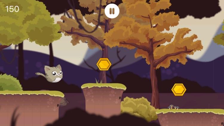 Flappy Kitty - Kitten Jump Doodle Adventure screenshot-3