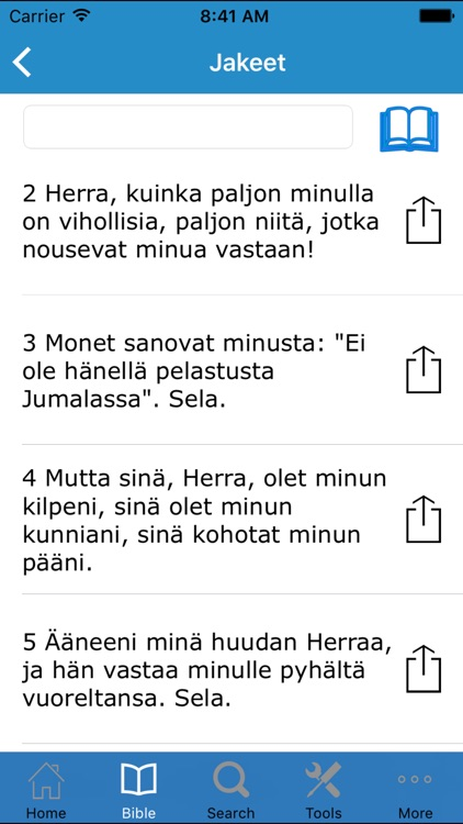 Pyhä Raamattu (Bible in Finnish) screenshot-1