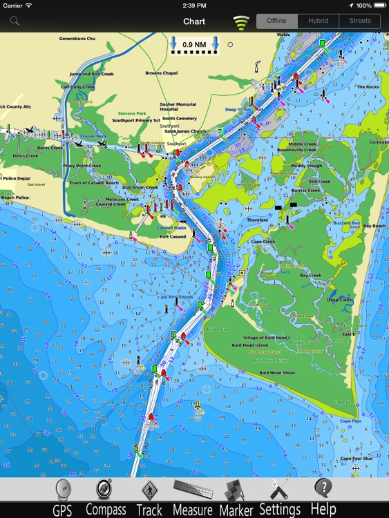 Carolina N Nautical Charts Pro screenshot-3