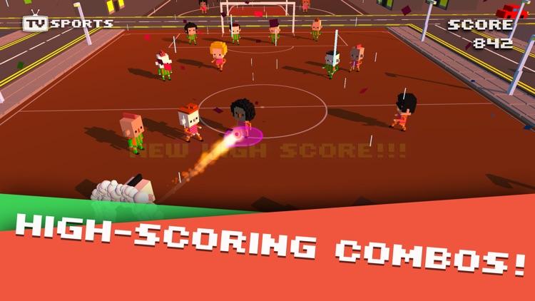 TV Sports Soccer - Endless Blocky Runner screenshot-4