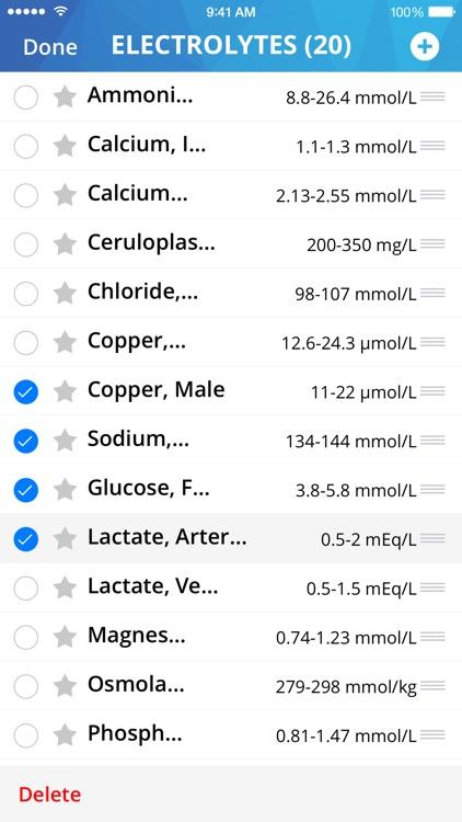 Lab Values Medical Reference screenshot-3
