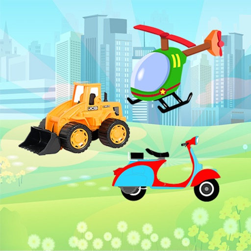 Vehicles Puzzles for Toddlers & Preschool
