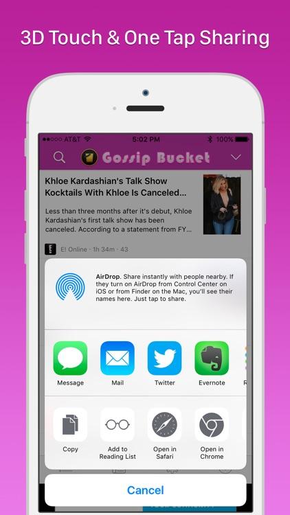 Gossip Bucket - Celebrity News Aggregator screenshot-4