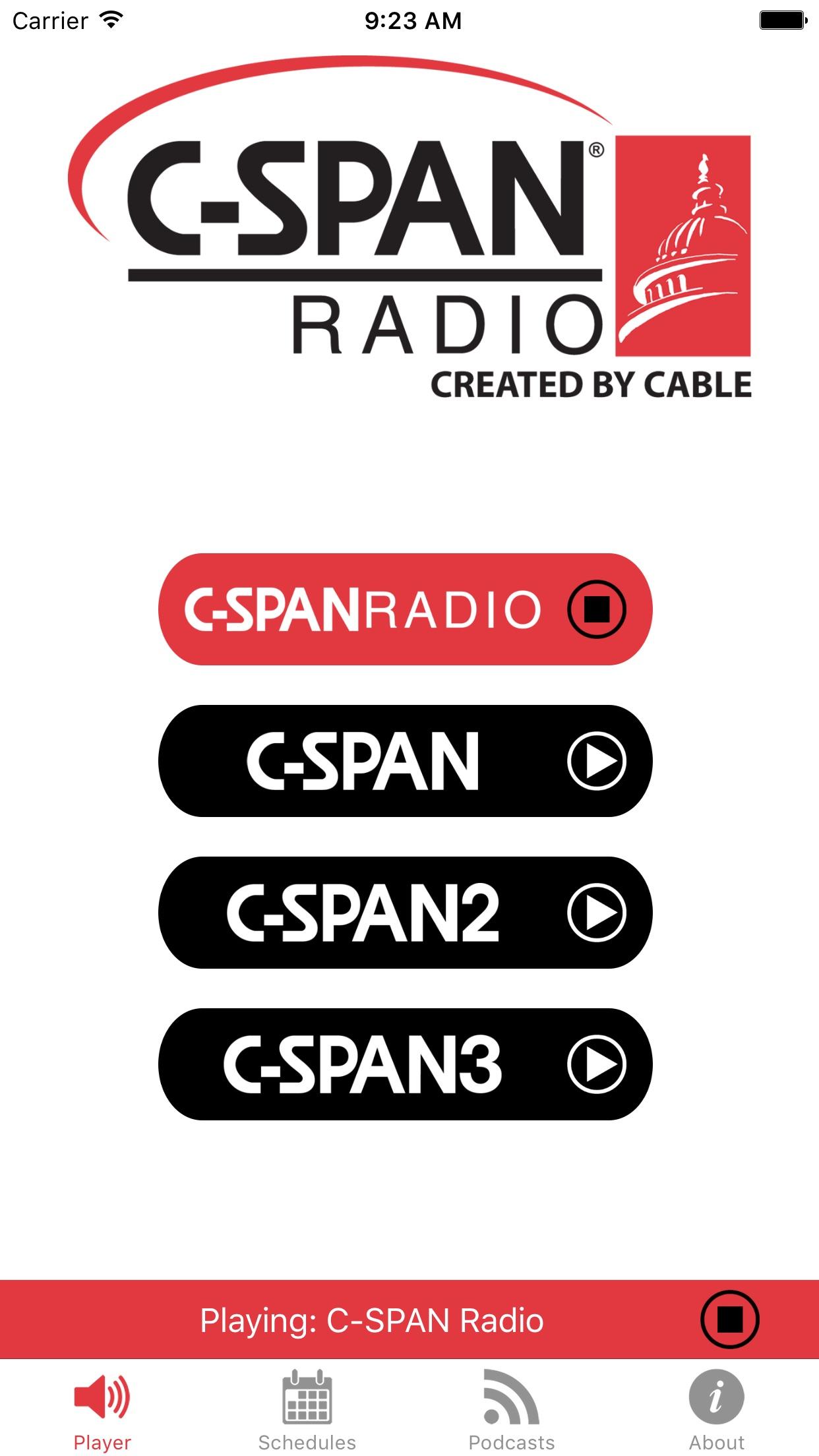C-SPAN RADIO Screenshot