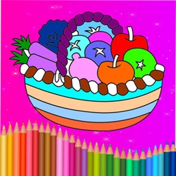 Fruit & Vegetables Coloring Drawing book For Toddler & Preschool