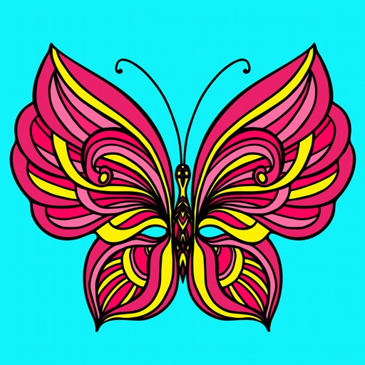 Butterfly Coloring Book for Adults: Free Adult Coloring Art Therapy Pages - Anxiety Stress Relief Balance Relaxation Games