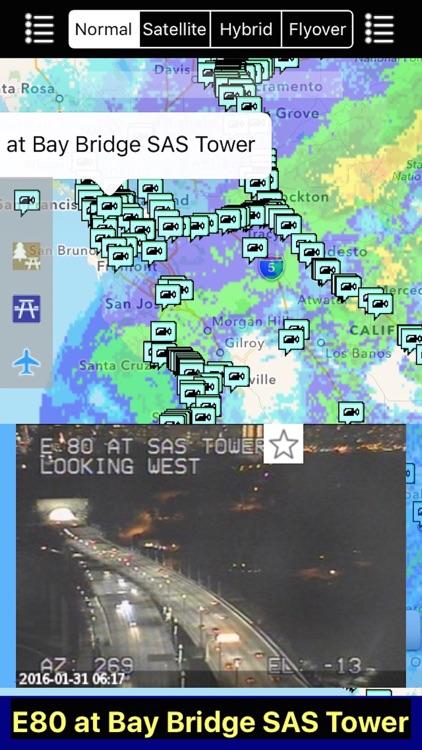 California NOAA Radar and Traffic Camera 3D