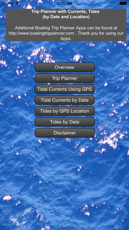 Gulf Trip Plan w/Current+Tides screenshot-0