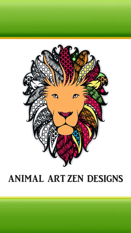 Animal Art Zen Designs - Relaxing Coloring Book for Adults