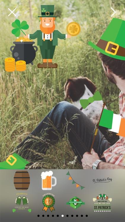 LuckLuckLuck - St Patricks Irish Pride Everyday FREE Photo Stickers screenshot-3