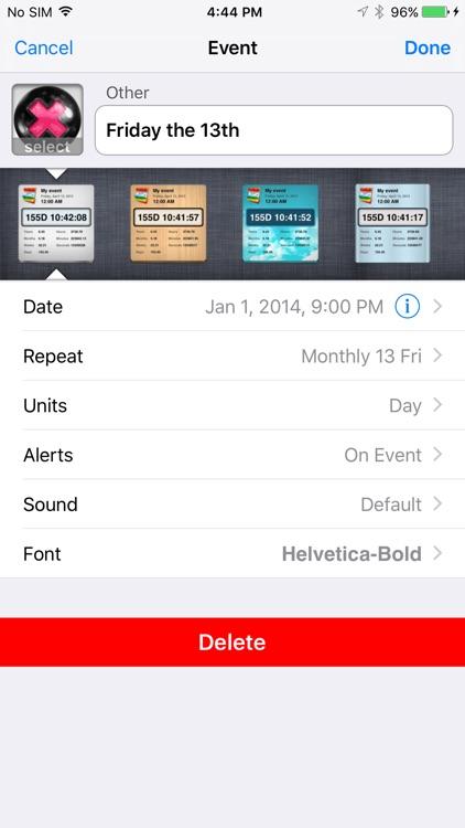 Countdown++ lite screenshot-3