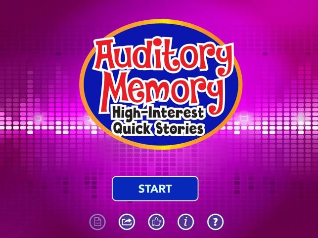Auditory Memory High Interest
