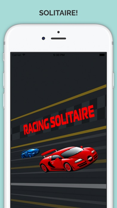 Racing In a Car Solitaire Traffic Rider Racing Rivals Classic Card Game Screenshot