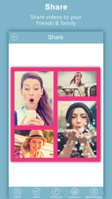 Screenshot for videocollage pro -vid pic collage For Instagrams in United Arab Emirates App Store