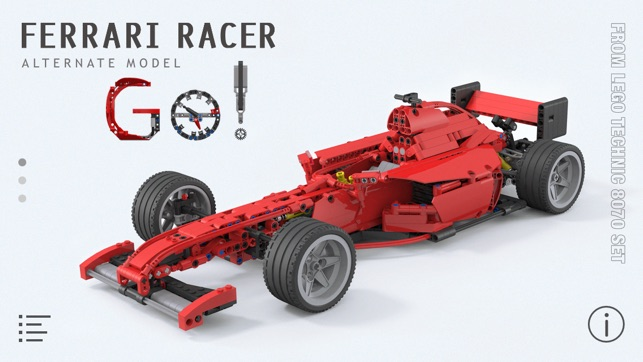 Ferrari Racer For Lego Technic 8070 Set Building Instructions On