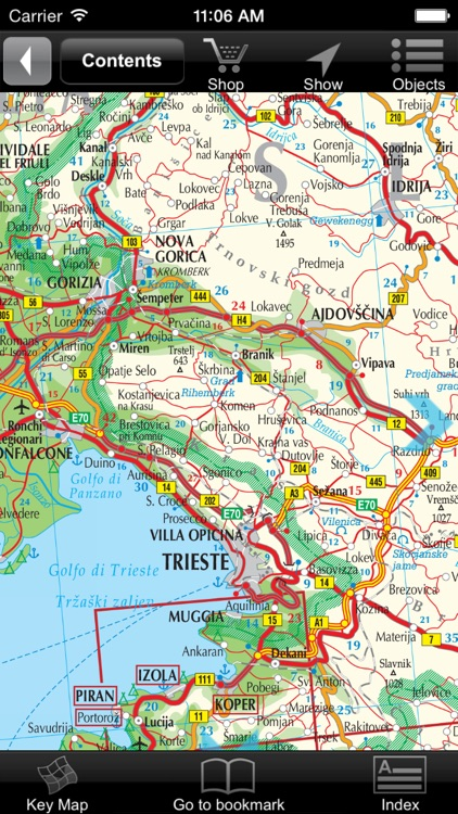 Slovenia, Croatia. Road map. screenshot-1