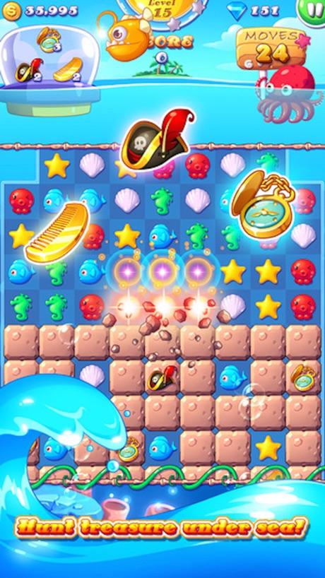 Ocean Joy – 3 match Mermaid splash puzzle game