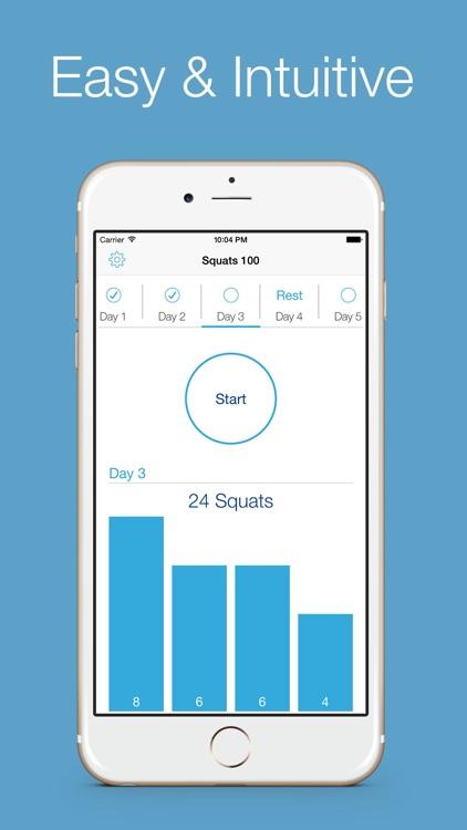 Squats 100 Free - 30 days workout challenge