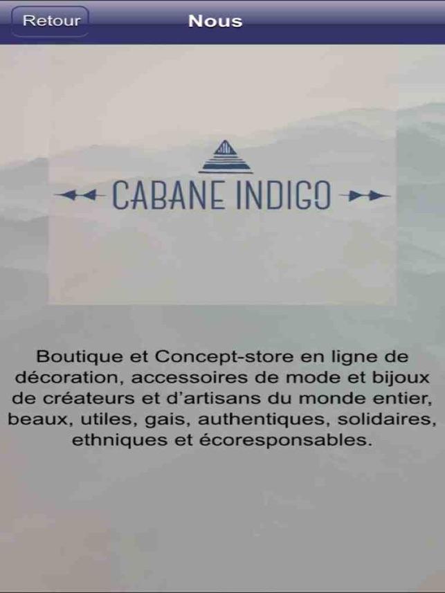 Cabane Indigo cabane indigo on the app store