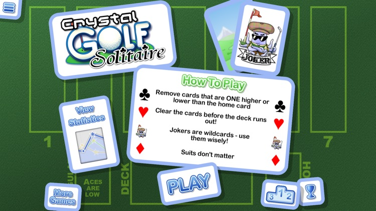 Crystal Golf Solitaire screenshot-0