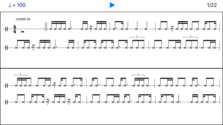 Snare Drill - Sight-Reading Exercises for Drummer screenshot-3