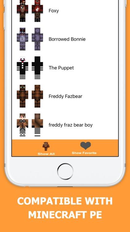 FNAF Skins PE - Free skin for Minecraft Pocket Edition screenshot-3