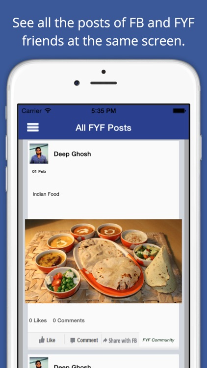 Face Your Food – Recipe Sharing App for Facebook