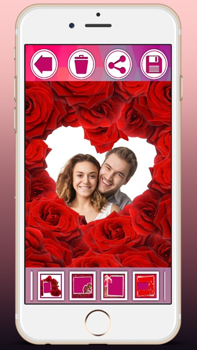 Love frames for pictures create postcards with romantic love ...