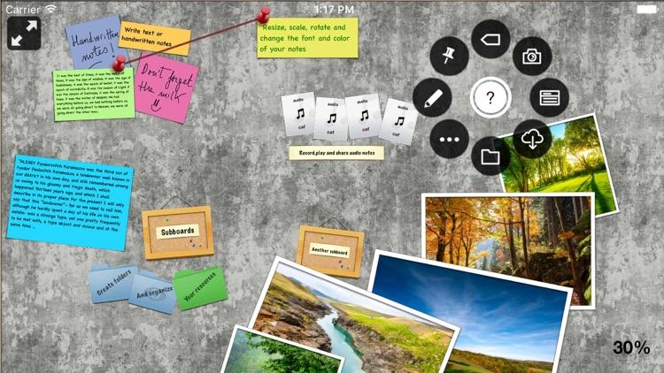 Pinnic - bulletin board with photos files audio