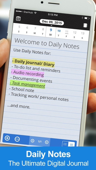 Daily Notes review screenshots