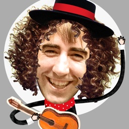 Crazy Flamenco Rumba Dance – Enjoy dancing Spanish music with this funny Face Photo Booth (perfect for guitar lovers)