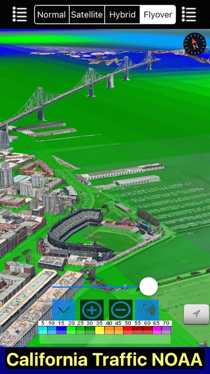 California NOAA Radar and Traffic Camera 3D screenshot-4