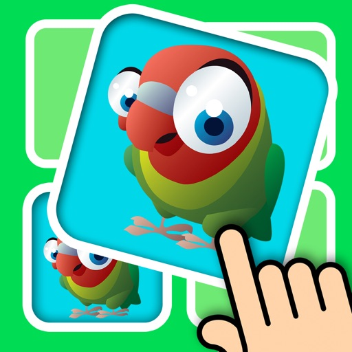 3D Memo match Bird Cards - Improve your kids brain with cute animal pair matching game iOS App