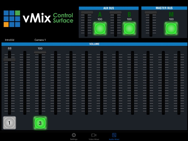 vMix Virtual Control Surface