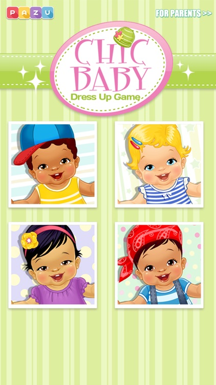 Chic Baby - Baby Care & Dress Up Game for Kids, by Pazu screenshot-2