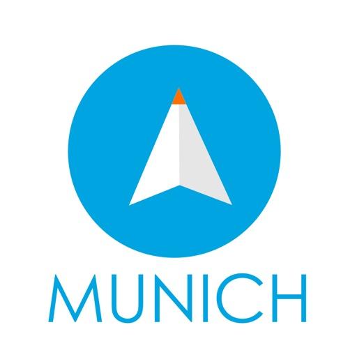 ミュンヘン(ドイツ)旅行者のためのガイドアプリ 距離と方向ナビのPilot(パイロット)