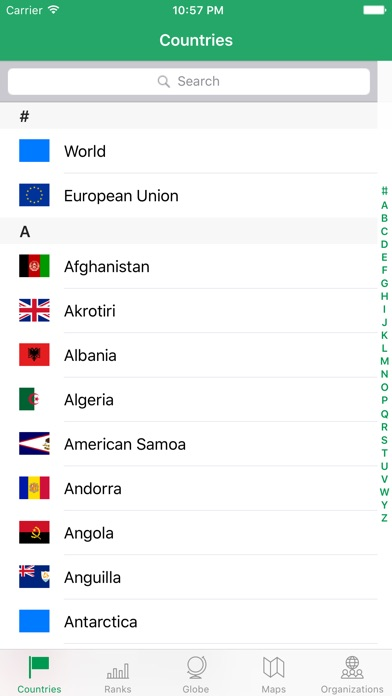 Screenshot for WorldABC — The CIA World FactBook in United States App Store