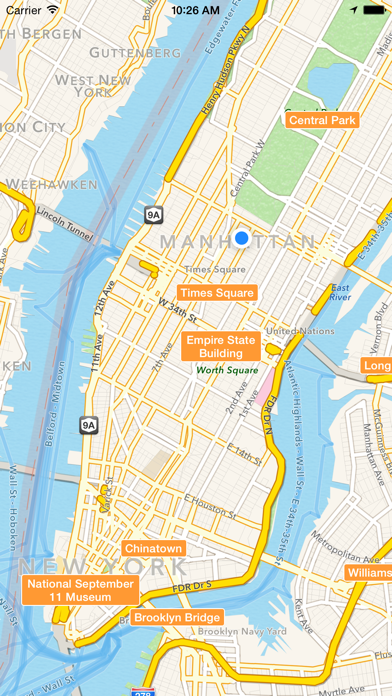 NYC Tourist Map - Travel Map for New York City screenshot one