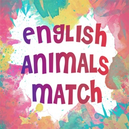 English Animals Match - A drag and drop kid game for learning english easily