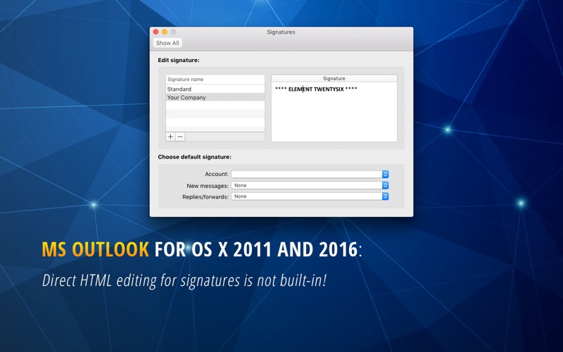 HTML Email Signature - Outlook for Mac