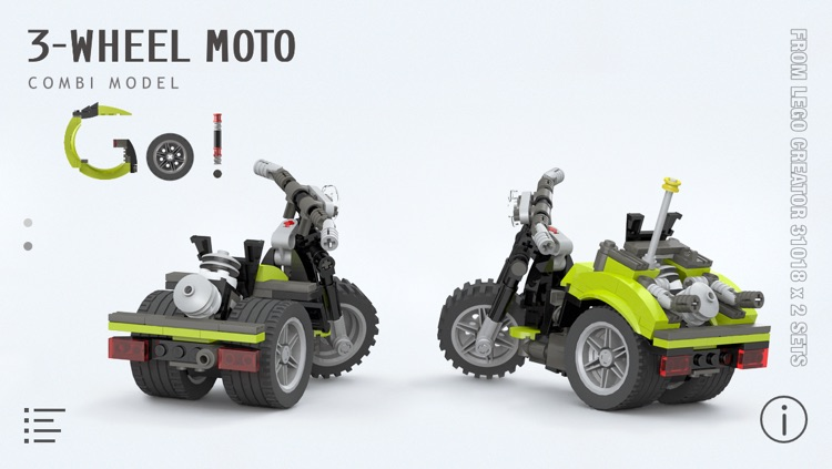 3 Wheel Moto For Lego Creator 31018 X 2 Sets Building Instructions