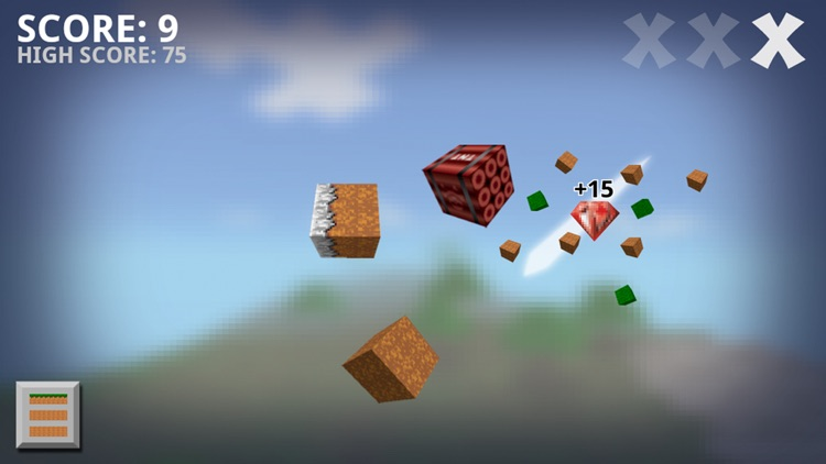 Ninja Craft Free - Slash The Flying Blocks To Find Gems In this Fun Game For Kids And Adults screenshot-3