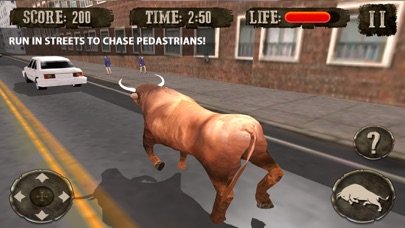 Crazy Angry Bull Attack 3D: Run Wild and Smash Cars