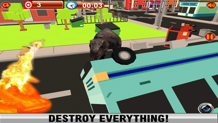 2016 Dinosaur Simulator Park : Dino City Fighting World Survival Game screenshot-3
