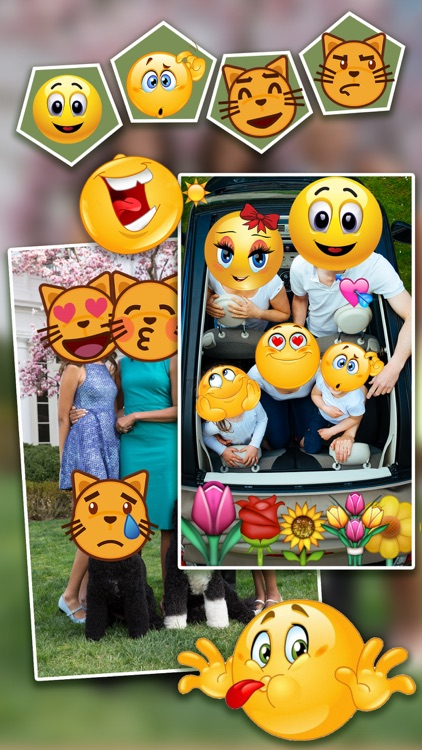 Emoji.s Photo Editor Pro - Add Funny Cool Emoticon Sticker.s & Smiley Face.s to Your Picture screenshot-1