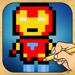 Draw And Play Pixel Superheroes Version