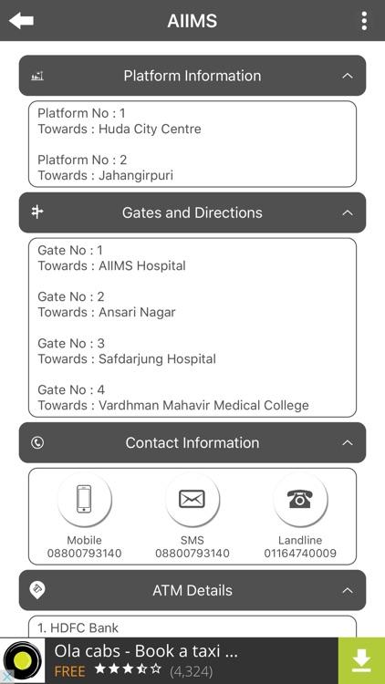 Delhi Metro Info screenshot-4