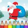 着色书 圣诞节儿童:有很多图片喜欢圣诞老人,雪人,精灵和礼物。游戏学习:如何画一幅画 (Christmas Coloring Book)